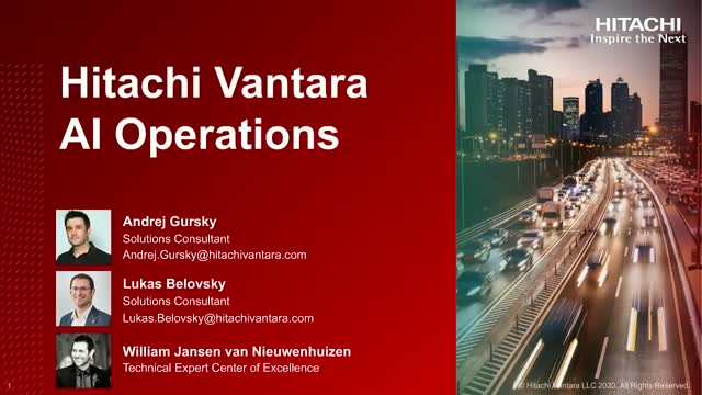 Hitachi Vantara AI Operations