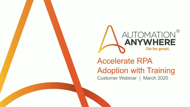 Leveraging training for accelerated RPA adoption