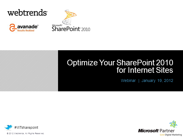 Optimizing SharePoint 2010 for Internet Sites
