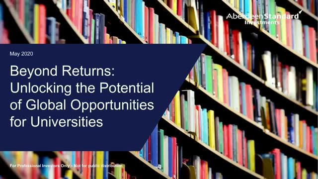Beyond Returns: Unlocking the Potential of Global Opportunities for Universities