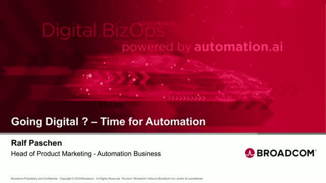 Going Digital? Time for Automation.