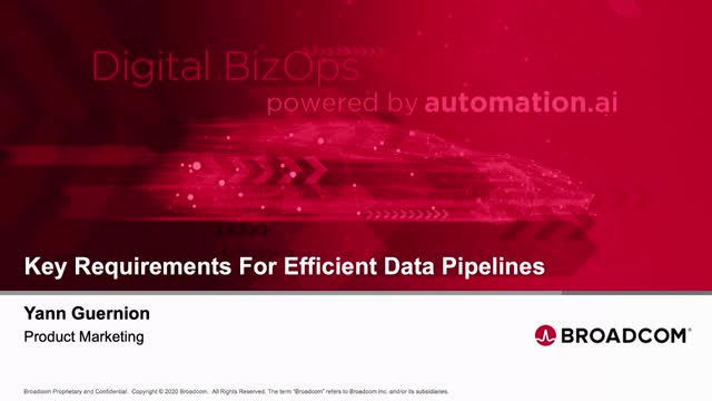 Key Requirements for Efficient Data Pipelines