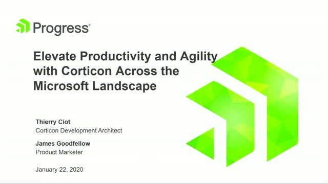 Elevate Productivity and Agility with Corticon Across the Microsoft Landscape