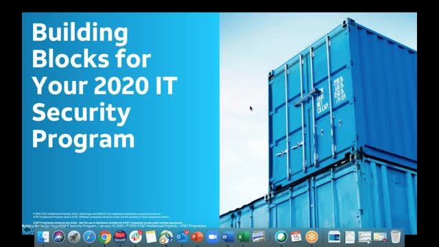 Building Blocks for your 2020 Security Program