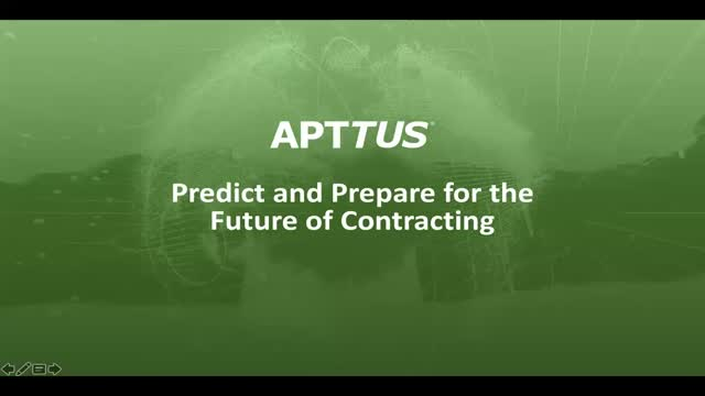 Predict and Prepare for the Future of Contracting