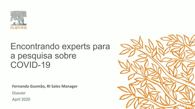 Finding COVID-19 Research Experts (Portuguese)