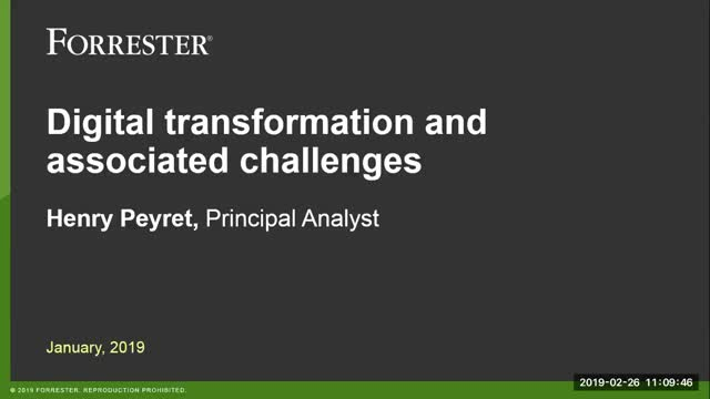Digital Transformation Next Steps, from the Analyst