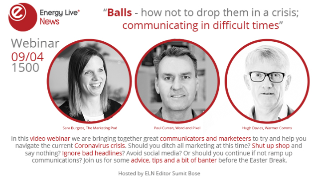 Balls - how not to drop them in a crisis; communicating in difficult times