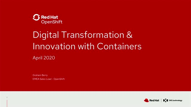 Digital Transformation and Innovation with Containers