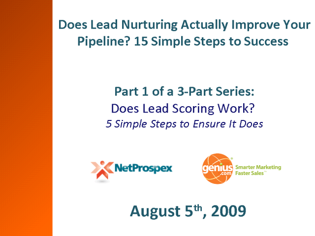 Does Lead Scoring Work? 5 Simple Steps to Ensure It Does