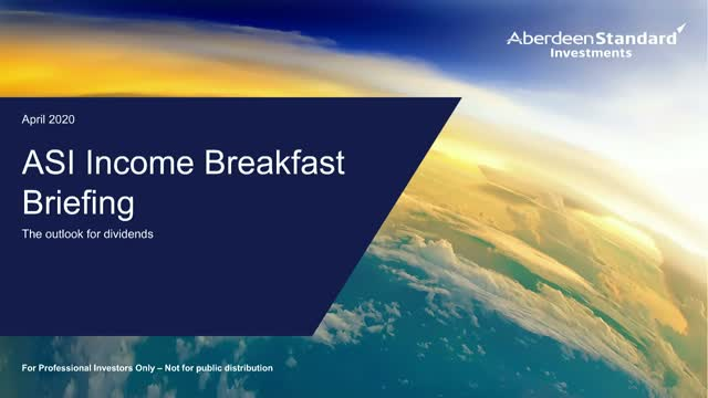 ASI breakfast briefing - the outlook for dividends