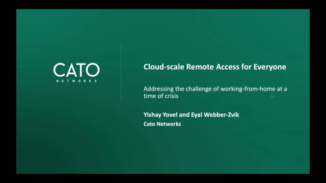 Cloud-scale Remote Access for Everyone