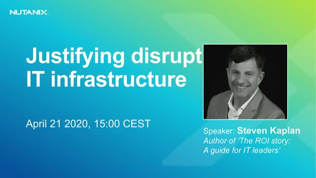 Justifying disruptive IT infrastructure