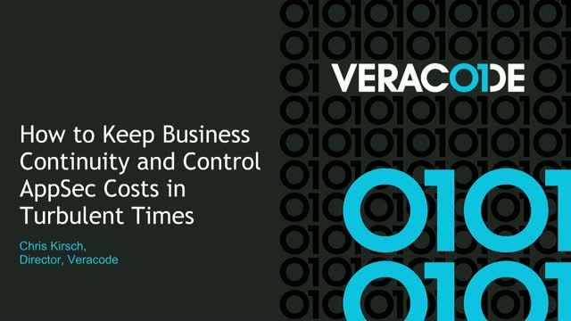 How to Keep Business Continuity and Control AppSec Costs in Turbulent Times