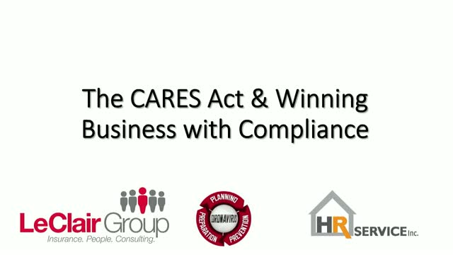 CARES Act & Winning Business with Compliance