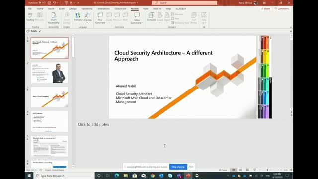 Cloud Security Architecture - a different approach