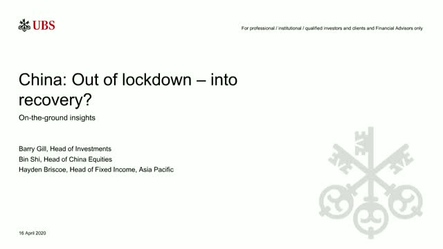 UBS Webinar: China: out of lockdown - into recovery?