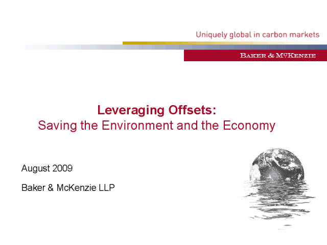 Leveraging Offsets: Saving the Environment and the Economy