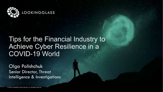 Tips for the Financial Industry to Achieve Cyber Resilience in a COVID-19 World