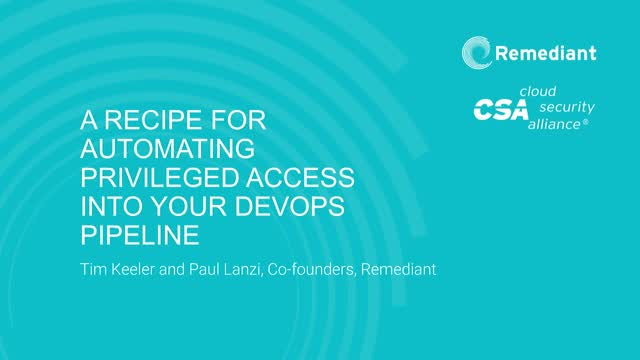 A recipe for automating privileged access into your DevOps pipeline