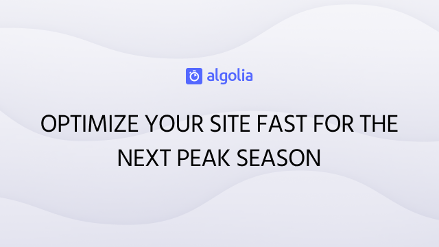 Optimize your site fast for the next peak season