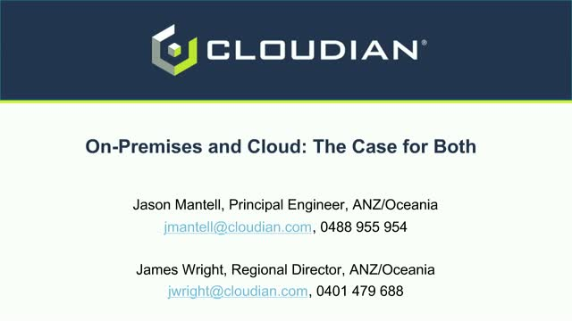 On-Premises AND Cloud: The Case for Both