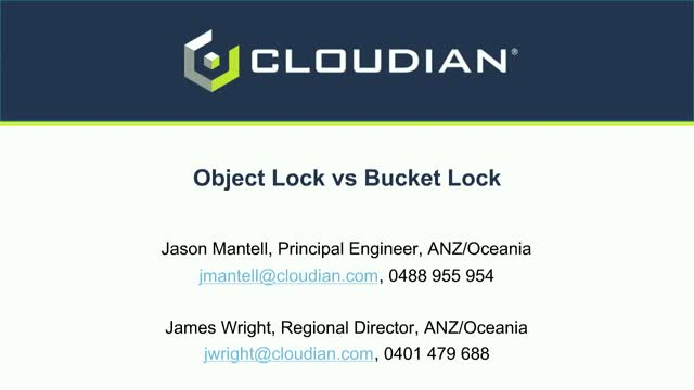 ObjectLock vs Bucket Lock