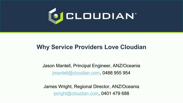 Why Service Providers Love Cloudian