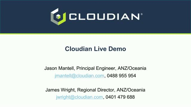 Cloudian Live Demo