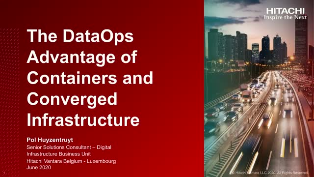 The DataOps Advantage of Containers and Converged Infrastructure