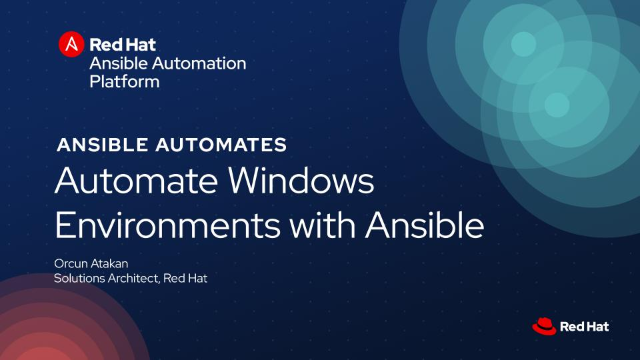 Automate Windows Environments with Red Hat Ansible Automation
