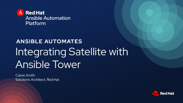 Integrating Satellite with Ansible Tower