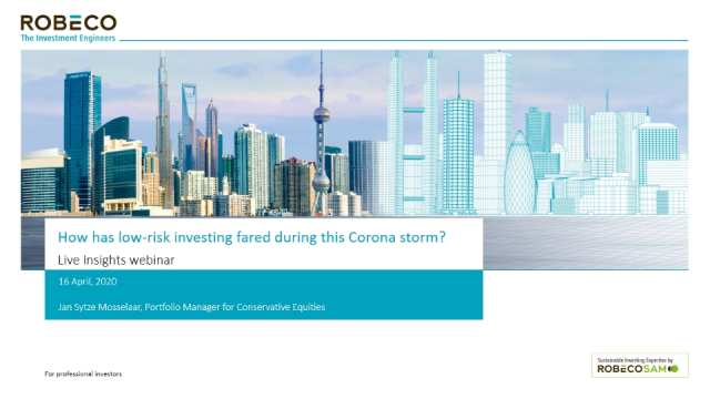 How has low-risk investing fared during the coronavirus storm?