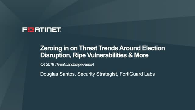 Zeroing in on Threat Trends Around Election Disruption, & Ripe Vulnerabilities