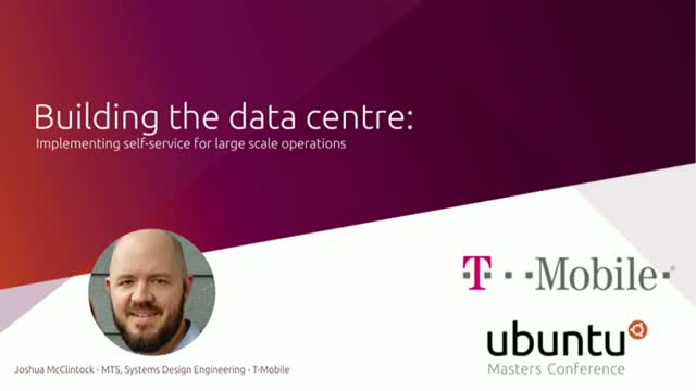 Building the data centre: Implementing self-service for large scale operations