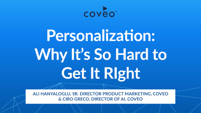 Personalization: Why It's So Hard to Get It Right