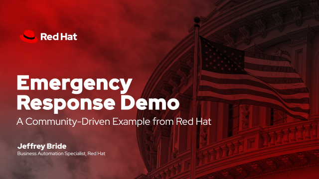Emergency Response Demo: A Community-Driven Example from Red Hat