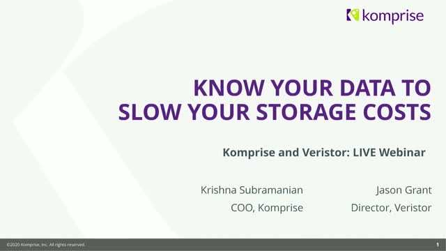 Know Your Data to Slow Your Storage Costs