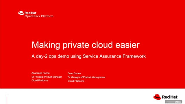 Making private cloud easier: A Day-2 Ops demo
