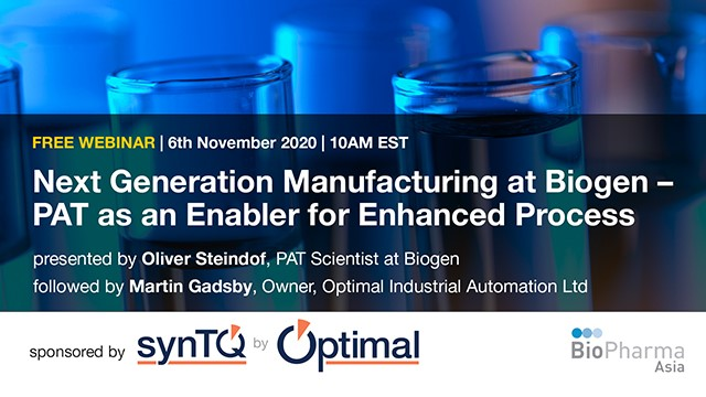 Next Generation Manufacturing at Biogen – PAT as an Enabler for Enhanced Process