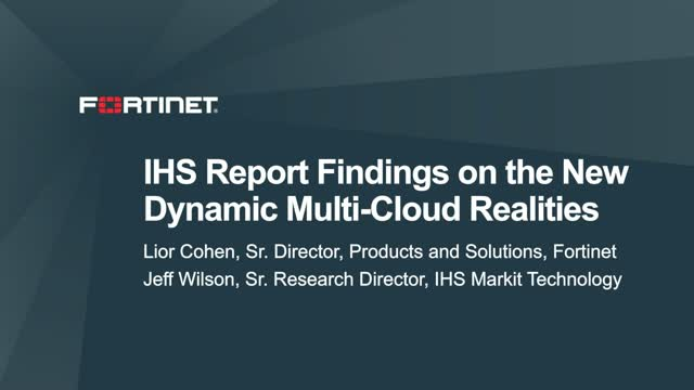 IHS Report Findings on the New Dynamic Multi-Cloud Realities