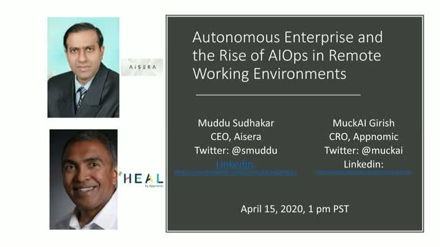 Autonomous Enterprise and the Rise of AIOps in Remote Working Environments