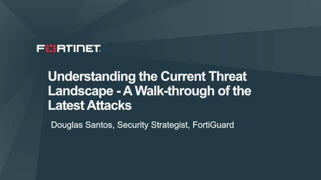 Understanding the Current Threat Landscape - A Walk-through of the Latest Attack