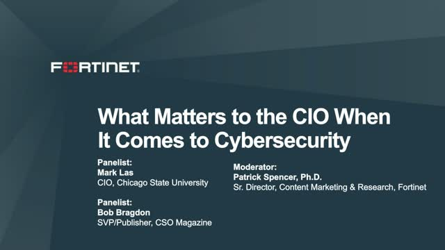 What Matters to the CIO When It Comes to Cybersecurity