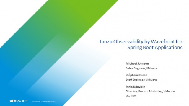 Free Tanzu Observability for Spring Boot Applications