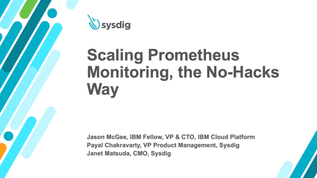 Scaling Prometheus Monitoring, the No-Hacks Way