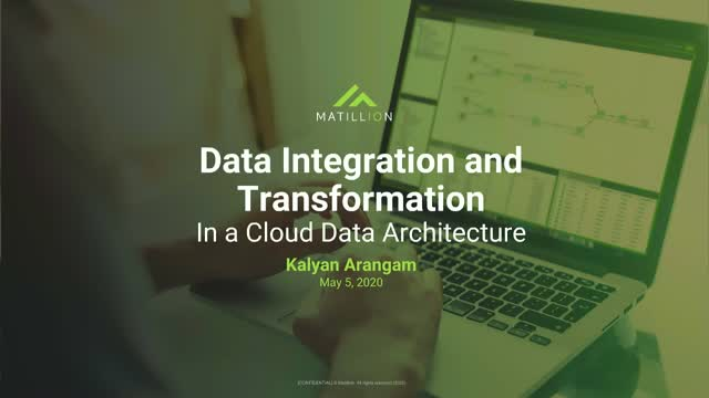 Data Integration and Transformation in a Cloud Data Architecture