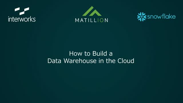 How to Build a Data Warehouse in the Cloud