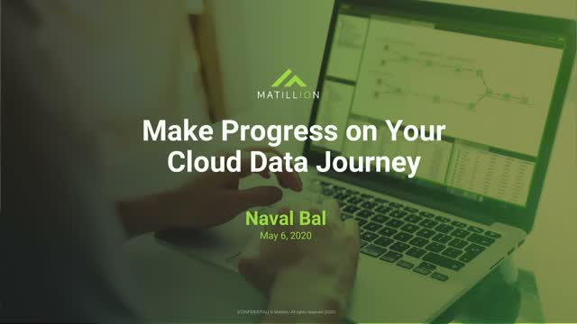 Make Progress on Your Cloud Data Journey