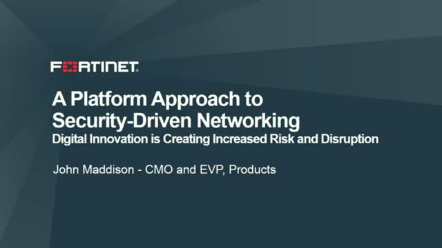 A Platform Approach to Security-Driven Networking